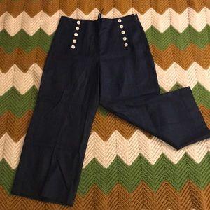 J. Crew Linen sailor pant